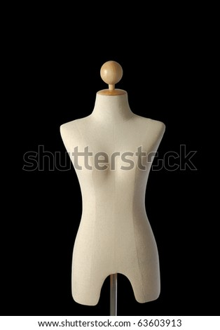 A mannequin on black isolated