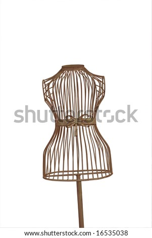 a mannequin thats see through with a clipping path on a white background
