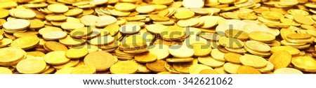A many gold coins . #342621062