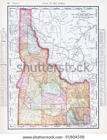 a map of idaho  usa from...