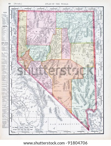 a map of nevada  usa from...