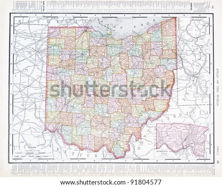 a map of ohio  usa from...