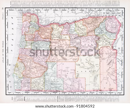 a map of oregon  usa from...