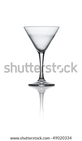 A martini glass on white background with path