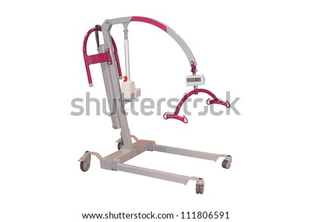 A Mechanical Hoist to Help Lift a Disabled Person.
