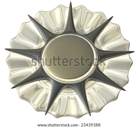 A medal in silver without any  number, isolated
