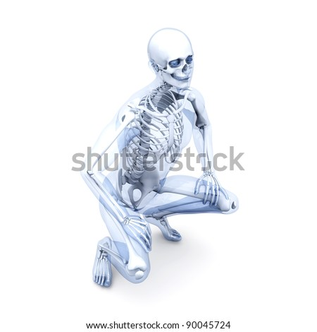 A medical visualization of human anatomy. 3D rendered Illustration. Isolated on white.