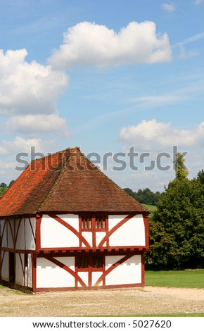 A medieval house from North Cray in Kent England from the 15th century