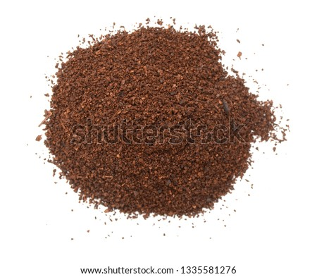 A medium ground coffee pile #1335581276