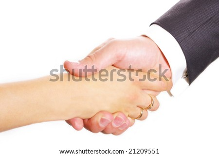 a men and women business contract agree
