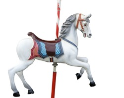 A merry-go-round horse