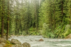 A mesmerizing view of a beautiful landscape, river of Kumrat Valley