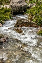A mesmerizing view of a beautiful landscape, waterfall of Kumrat Valley