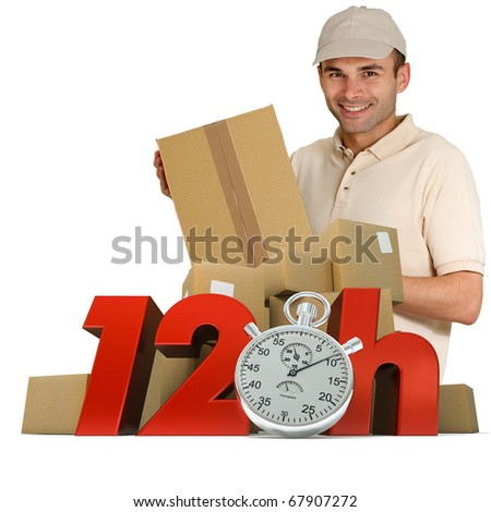 A messenger delivering a parcel with 12hrs and a chronometer