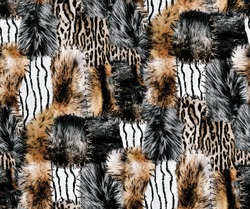 A meter pattern consisting of wild animal feathers in a Patchwork air