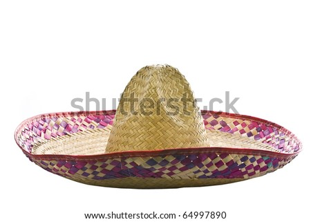 A mexican sombrero isolated on a white background