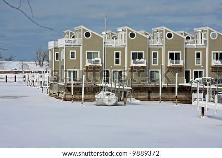 A Michigan Harbor in the Winter