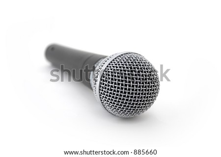 A microphone on a white background.