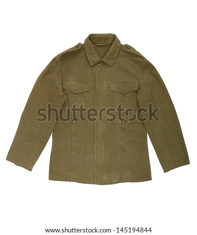 A military jacket is on white background.