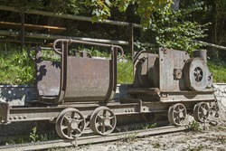 A Minecart is a rail car, which is mainly used for transporting bulk or as slag.