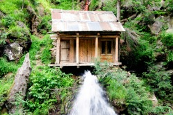A mini hydro power plant in the Kashmir Valley
