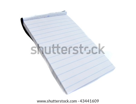 A miniature small notepad isolated on a white background - stock photo