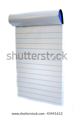 A miniature small notepad isolated on a white background