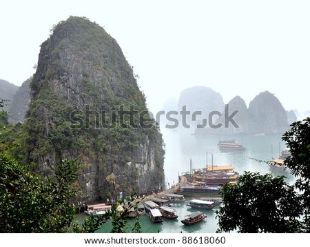 A Misty Day In Halong Bay - Vietnam