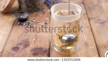 a mix of herbal tea with...
