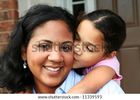 A mixed race mother and daughter #11339593
