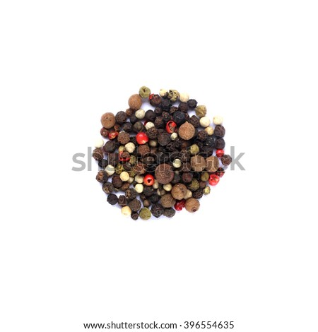 Shutterstock A mixture of peppers peas isolated on a white background