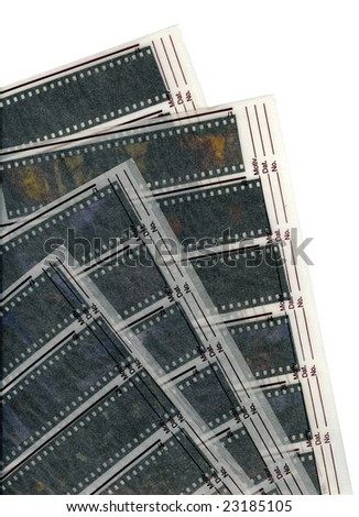 A 35mm contact sheets strip of slide film with my photos. I am the author of all the images contained in this image.