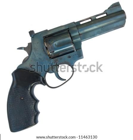 a 38mm pistol gun isolated