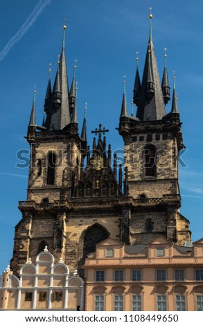 A model for Disneyland castle - Church of Our Lady Before Tyn