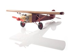 A model of an old airplane