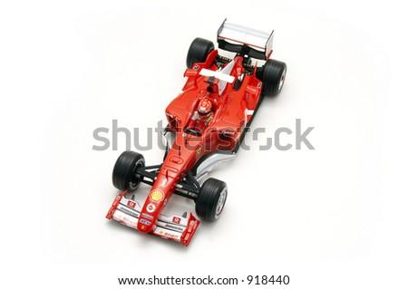 A model of the Ferrari Formula 1 car.
