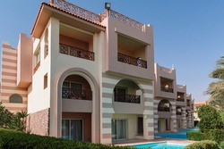 A modern and luxurious residence - Lifestyle concept. A huge new luxury home