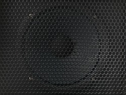 A modern black amplifier audio speaker image
