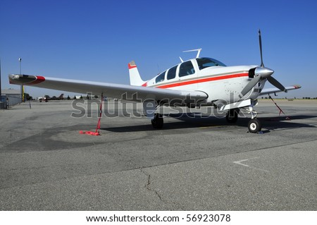 A modern business or personal airplane for fast transportation