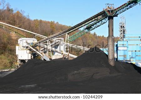 A modern coal mine.