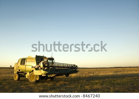 A modern combine harvester in the field