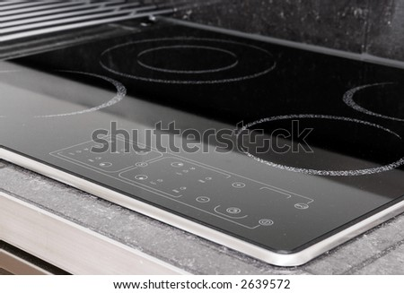 A modern induction stove detail