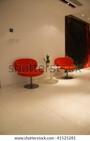 A modern lobby for an company.