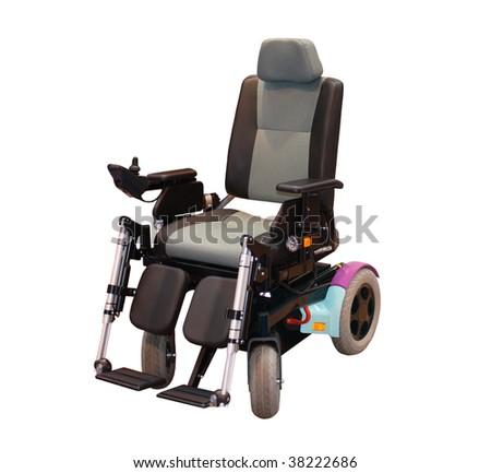 A Modern Motorised Wheelchair for a Disabled Person.