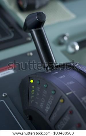 A modern ships telegraph close up - FULL SPEED AHEAD