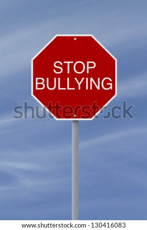 A modified stop sign on bullying