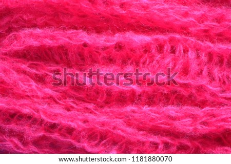 A mohair threads texture