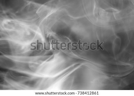 A monochromatic flowing smoke texture. This photo was taken in Brisbane, Australia.  #738412861