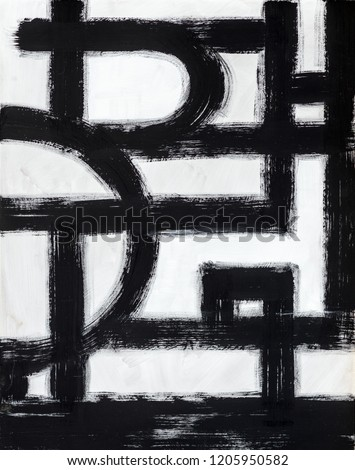 A Monochrome Abstract Painting, with Broken Brushstrokes