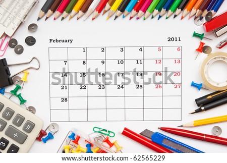 month of february calendar 2011. calendar February 2011.